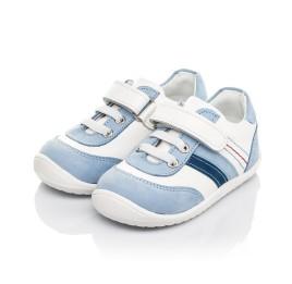 Детские кроссовки Woopy Fashion белые для мальчиков натуральная кожа размер 19-25 (5077) Фото 3