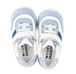 Детские кроссовки Woopy Fashion белые для мальчиков натуральная кожа размер 19-25 (5077) Фото 5