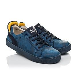Детские кеди Woopy Fashion синие для мальчиков натуральный нубук размер 29-37 (5078) Фото 1