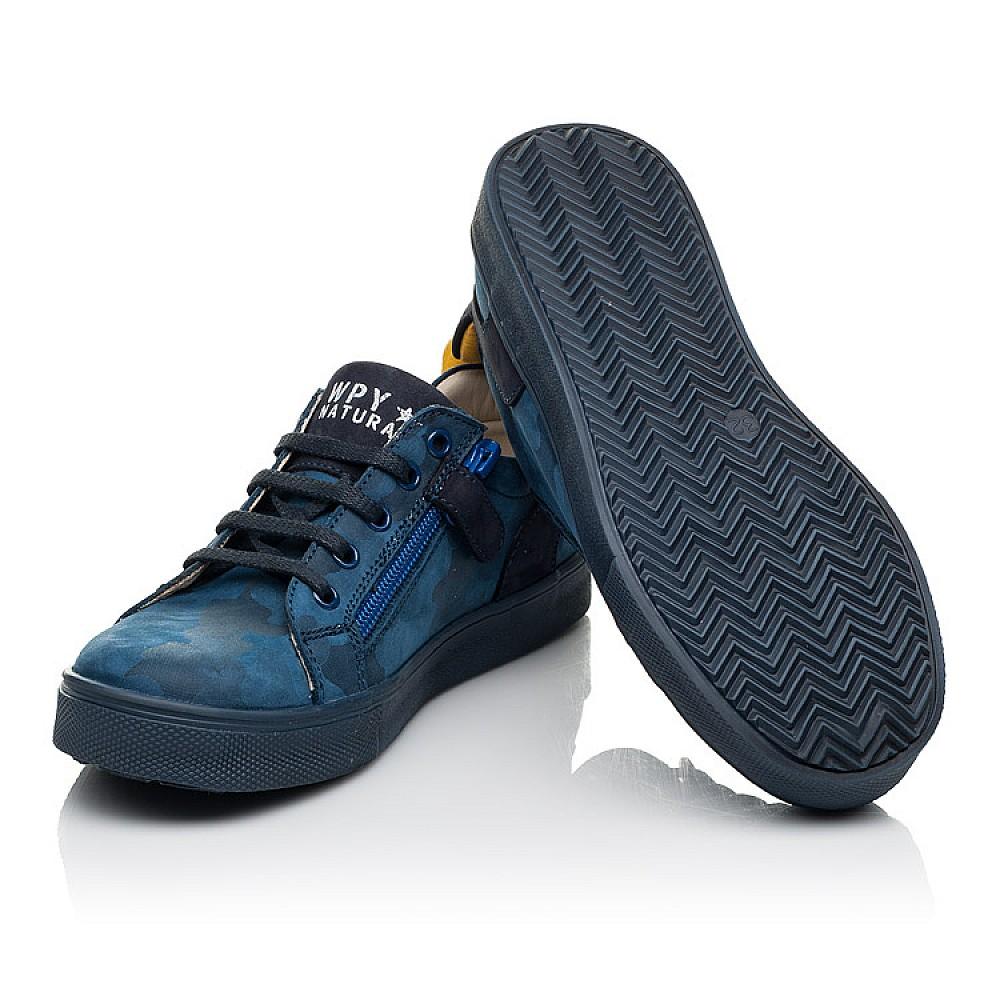 Детские кеды Woopy Fashion синие для мальчиков натуральный нубук размер 29-37 (5078) Фото 2