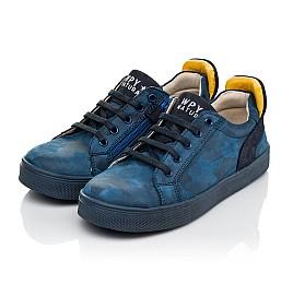 Детские кеди Woopy Fashion синие для мальчиков натуральный нубук размер 29-37 (5078) Фото 5