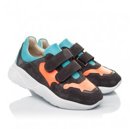 Детские кроссовки Woopy Fashion разноцветные для девочек натуральная кожа, нубук и замша размер 27-35 (5079) Фото 1