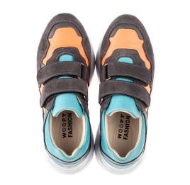 Детские кроссовки Woopy Fashion разноцветные для девочек натуральная кожа, нубук и замша размер 26-35 (5079) Фото 4