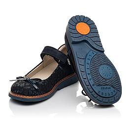 Детские туфлі Woopy Orthopedic синие для девочек натуральный нубук и замша размер 29-35 (5080) Фото 2