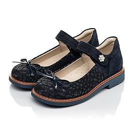 Детские туфлі Woopy Orthopedic синие для девочек натуральный нубук и замша размер 29-35 (5080) Фото 3