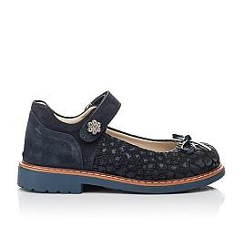 Детские туфлі Woopy Orthopedic синие для девочек натуральный нубук и замша размер 29-35 (5080) Фото 4