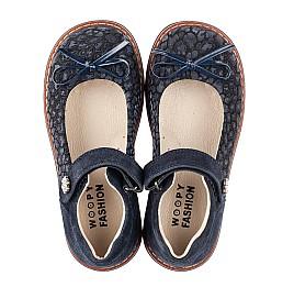 Детские туфлі Woopy Orthopedic синие для девочек натуральный нубук и замша размер 29-35 (5080) Фото 5