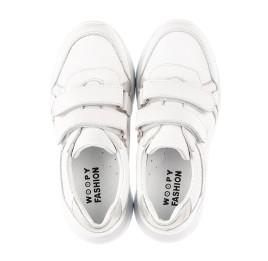 Детские кроссовки Woopy Fashion белые для девочек натуральная кожа размер 26-26 (5082) Фото 5