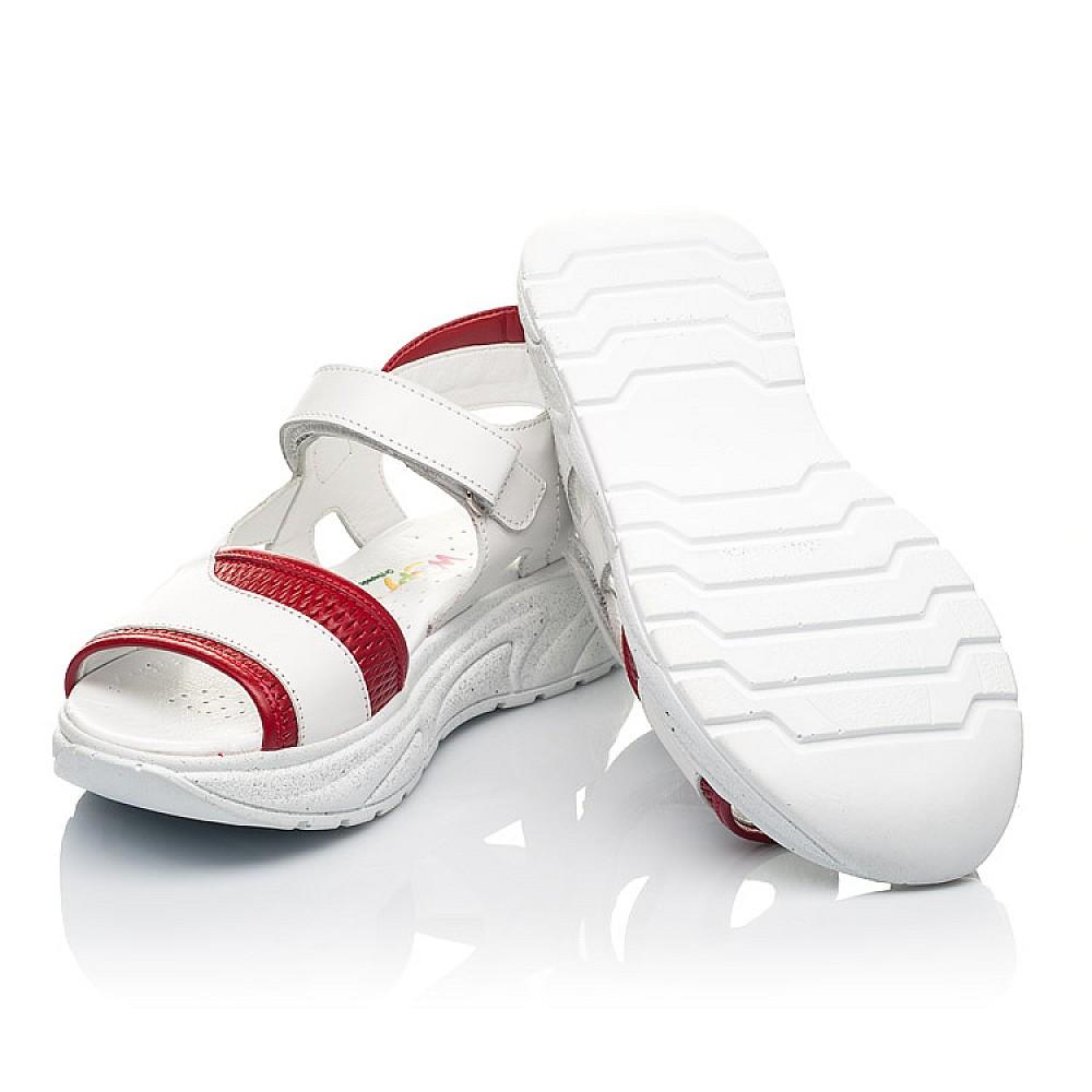 Детские босоножки Woopy Fashion белые для девочек натуральная кожа размер 33-39 (5087) Фото 2