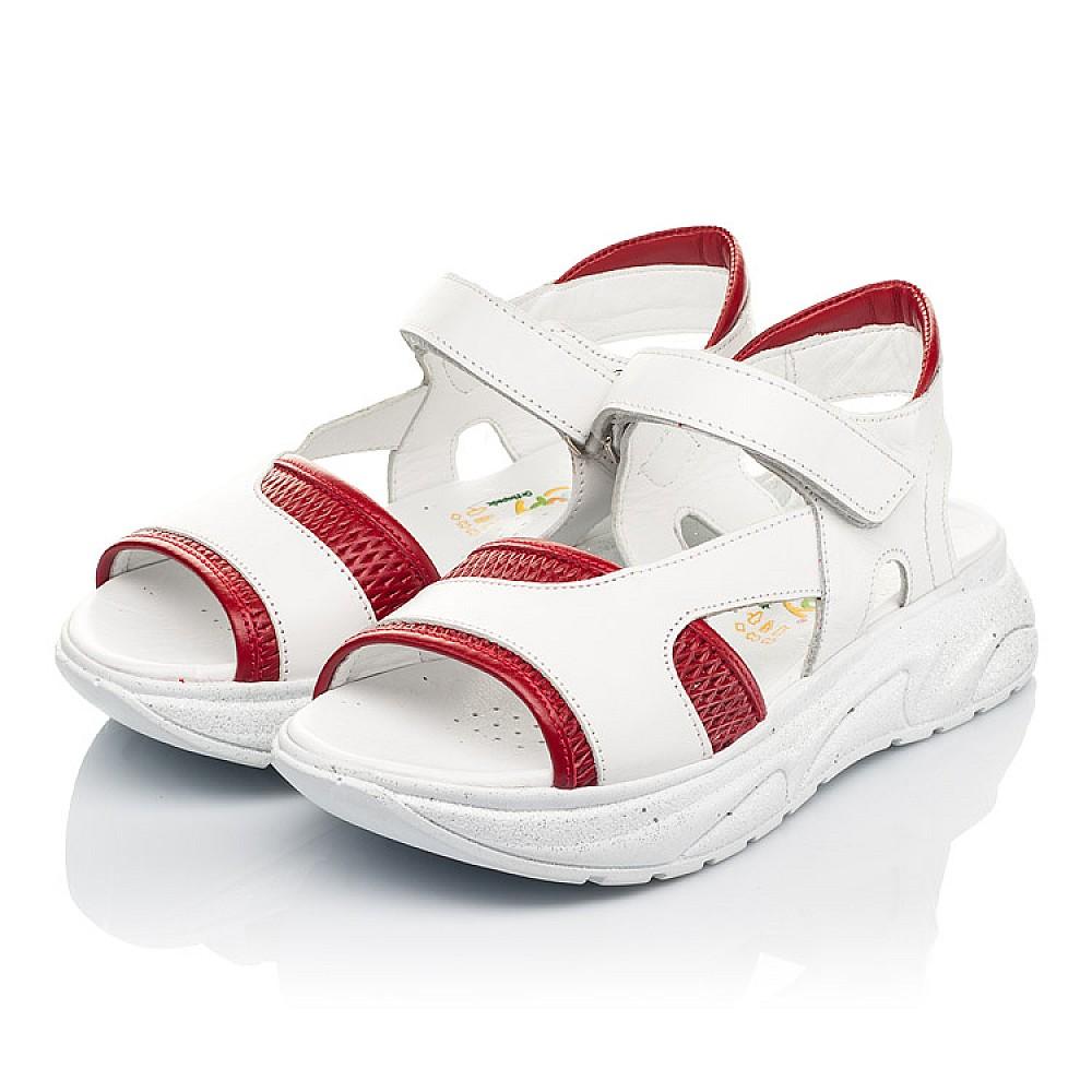 Детские босоножки Woopy Fashion белые для девочек натуральная кожа размер 33-39 (5087) Фото 3