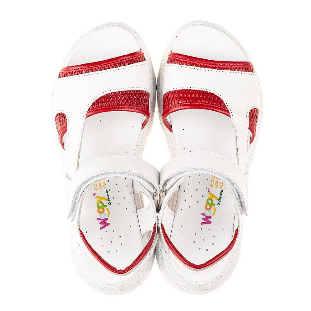 Детские босоножки Woopy Fashion белые для девочек натуральная кожа размер 33-39 (5087) Фото 5