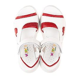 Детские босоножки Woopy Fashion белые для девочек натуральная кожа размер 33-37 (5087) Фото 5