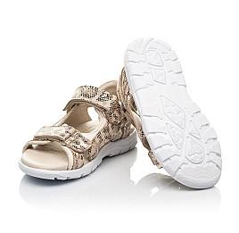 Детские босоножки Woopy Fashion золотые для девочек натуральный нубук размер 27-36 (5088) Фото 2