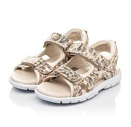 Детские босоножки Woopy Fashion золотые для девочек натуральный нубук размер 27-36 (5088) Фото 3
