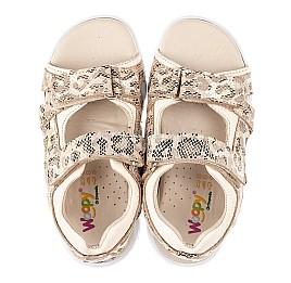 Детские босоножки Woopy Fashion золотые для девочек натуральный нубук размер 24-39 (5088) Фото 5