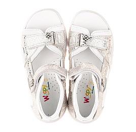 Детские босоножки Woopy Fashion белые для девочек натуральная кожа размер 23-36 (5089) Фото 5
