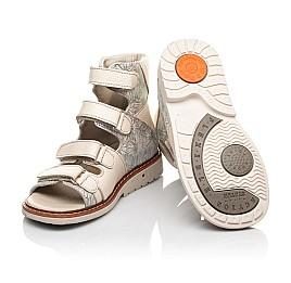 Детские ортопедичні босоніжки (з високим берцями) Woopy Orthopedic бежевые для девочек натуральная кожа размер 22-34 (5090) Фото 2
