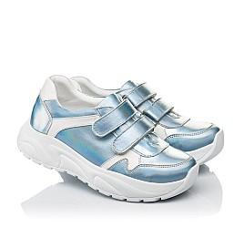 Детские кроссовки Woopy Fashion голубые для девочек натуральная кожа размер 27-38 (5091) Фото 1