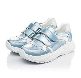 Детские кроссовки Woopy Fashion голубые для девочек натуральная кожа размер 27-38 (5091) Фото 3