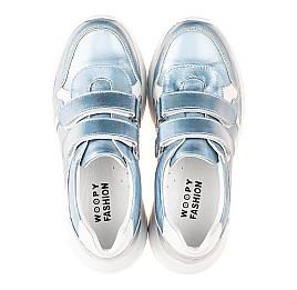 Детские кроссовки Woopy Fashion голубые для девочек натуральная кожа размер 27-38 (5091) Фото 5