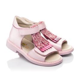 Детские босоножки Woopy Orthopedic розовые для девочек натуральная кожа размер 21-27 (5092) Фото 1