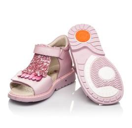 Детские босоножки Woopy Orthopedic розовые для девочек натуральная кожа размер 21-27 (5092) Фото 2