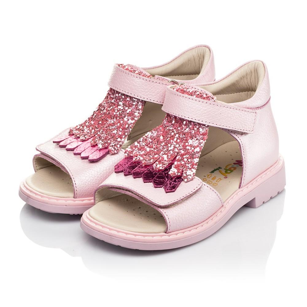 Детские босоножки Woopy Orthopedic розовые для девочек натуральная кожа размер 21-30 (5092) Фото 3