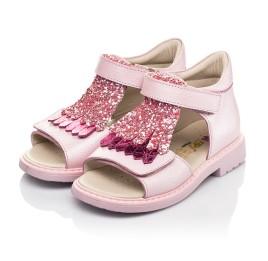 Детские босоножки Woopy Orthopedic розовые для девочек натуральная кожа размер 21-27 (5092) Фото 3