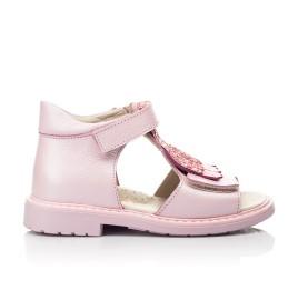 Детские босоножки Woopy Orthopedic розовые для девочек натуральная кожа размер 21-27 (5092) Фото 4