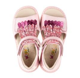 Детские босоножки Woopy Orthopedic розовые для девочек натуральная кожа размер 21-27 (5092) Фото 5