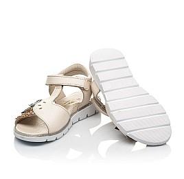 Детские босоножки Woopy Fashion бежевые для девочек натуральная кожа размер 28-37 (5094) Фото 2
