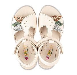 Детские босоножки Woopy Fashion бежевые для девочек натуральная кожа размер 28-37 (5094) Фото 6