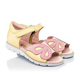 Детские босоножки Woopy Fashion желтые для девочек натуральная кожа размер 26-36 (5095) Фото 1