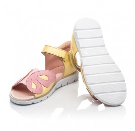 Детские босоніжки Woopy Fashion желтые для девочек натуральная кожа размер 26-36 (5095) Фото 2