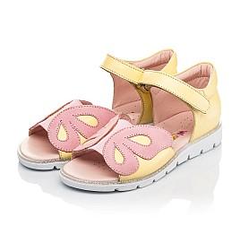 Детские босоножки Woopy Fashion желтые для девочек натуральная кожа размер 26-36 (5095) Фото 3