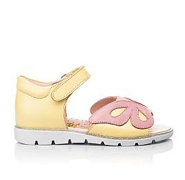 Детские босоножки Woopy Fashion желтые для девочек натуральная кожа размер 26-36 (5095) Фото 4
