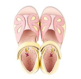 Детские босоножки Woopy Fashion желтые для девочек натуральная кожа размер 26-36 (5095) Фото 5
