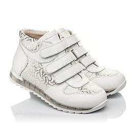 Детские демісезонні черевики (підкладка шкіра) Woopy Fashion белые для девочек натуральная кожа размер 28-38 (5096) Фото 1