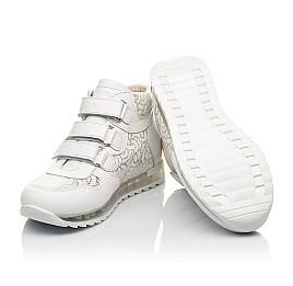 Детские демісезонні черевики (підкладка шкіра) Woopy Fashion белые для девочек натуральная кожа размер 24-38 (5096) Фото 2