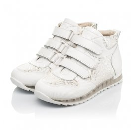 Детские демісезонні черевики (підкладка шкіра) Woopy Fashion белые для девочек натуральная кожа размер 28-38 (5096) Фото 3