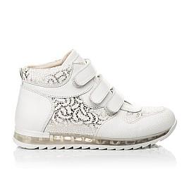 Детские демісезонні черевики (підкладка шкіра) Woopy Fashion белые для девочек натуральная кожа размер 24-38 (5096) Фото 4