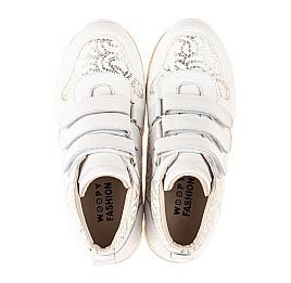 Детские демісезонні черевики (підкладка шкіра) Woopy Fashion белые для девочек натуральная кожа размер 24-38 (5096) Фото 5