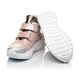 Детские демисезонные ботинки (подкладка кожа) Woopy Fashion пудровые для девочек натуральный нубук размер 28-37 (5097) Фото 2