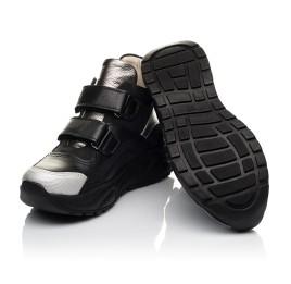 Детские демисезонные ботинки (подкладка кожа) Woopy Fashion черные для девочек  натуральная кожа и нубук размер 29-38 (5098) Фото 2