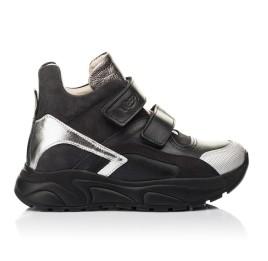 Детские демісезонні черевики матеріал (підкладка шкіра) Woopy Fashion черные для девочек  натуральная кожа и нубук размер 29-38 (5098) Фото 4