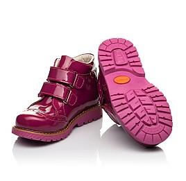 Детские демисезонные ботинки (подкладка кожа) Woopy Fashion розовые для девочек натуральная лаковая кожа размер 25-35 (5099) Фото 2