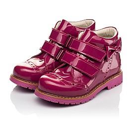 Детские демисезонные ботинки (подкладка кожа) Woopy Fashion розовые для девочек натуральная лаковая кожа размер 25-35 (5099) Фото 3