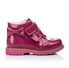 Детские демисезонные ботинки (подкладка кожа) Woopy Fashion розовые для девочек натуральная лаковая кожа размер 25-35 (5099) Фото 4