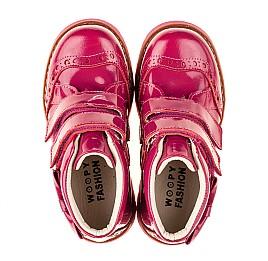 Детские демисезонные ботинки (подкладка кожа) Woopy Fashion розовые для девочек натуральная лаковая кожа размер 25-35 (5099) Фото 5
