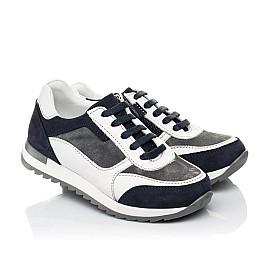 Детские кросівки Woopy Fashion белые для мальчиков натуральная кожа, замша размер 23-33 (5100) Фото 1